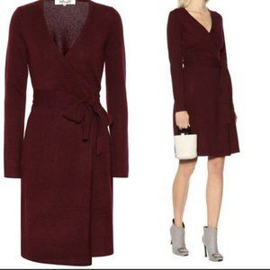 Diane Von Furstenberg Linda Knit Jersey Wrap Dres